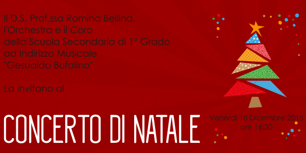 Invito per il Concerto di Natale a.s. 2015/2016