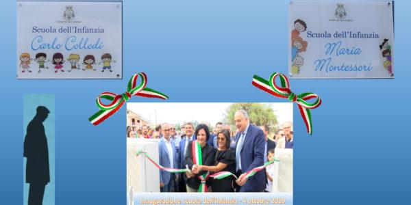 Inaugurazione della nuova Scuola dell'Infanzia Comiso